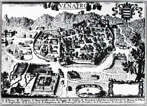 antica mappa della città di Venafro